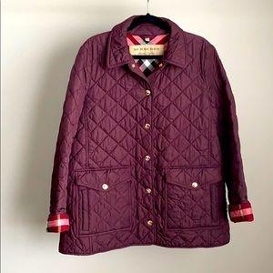 Burberry Westbridge Quilted Burgundy Jacket - XXL